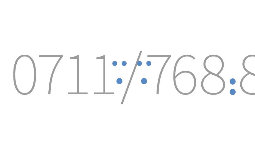 Zahlen wie Telefonnummern korrekt gliedern in InDesign
