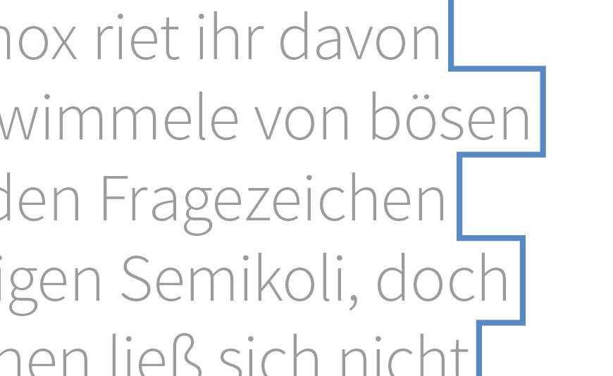 Satzbild (Blocksatz oder Flattersatz) in InDesign